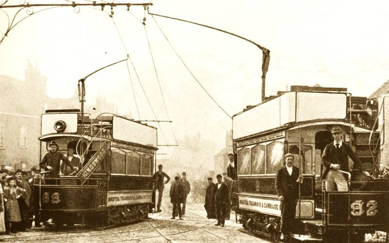 Bristol Tramways - the earliest trams at St George