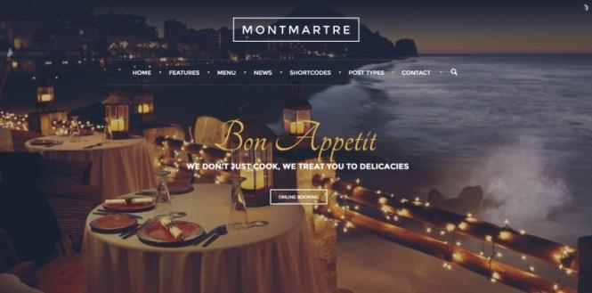 Montmartre Cafe Restaurant Thème WordPress