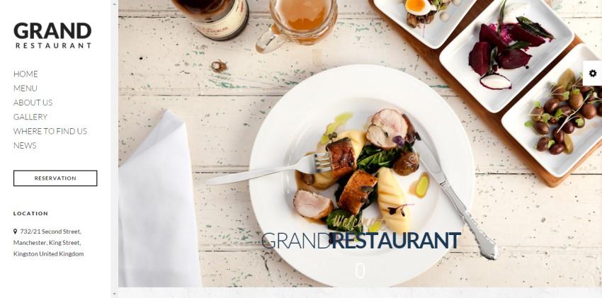 Гранд Ресторан Ресторан Кафе Тема