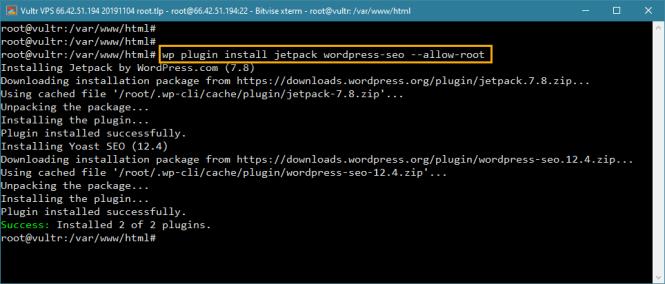 wp-cli installe plusieurs plugins dans wordpress