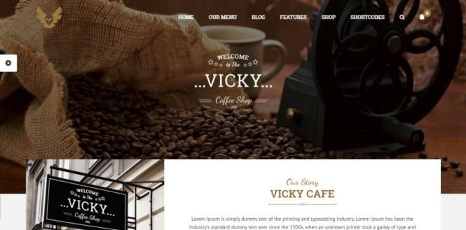 Vicky - Thème WordPress Restaurant & Café