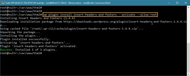 wp-cli installe et active plusieurs plugins dans wordpress
