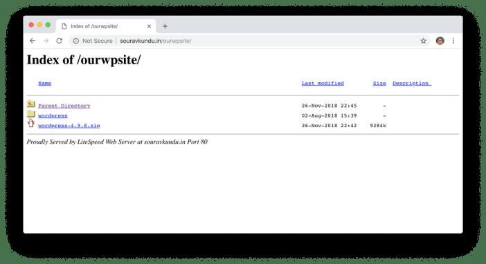 mala gestión del subdirectorio de wordpress