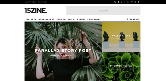 15zine HD Magazine & News Thème WordPress