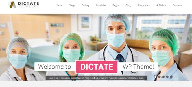 Dictate Health & Medical Thème WordPress