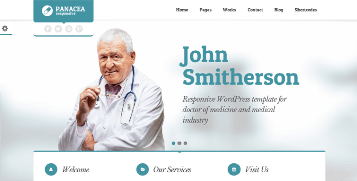 Panacea Salud y Medicina Tema de WordPress