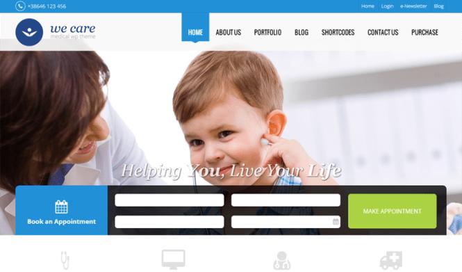 We Care Santé et médecine Thème WordPress