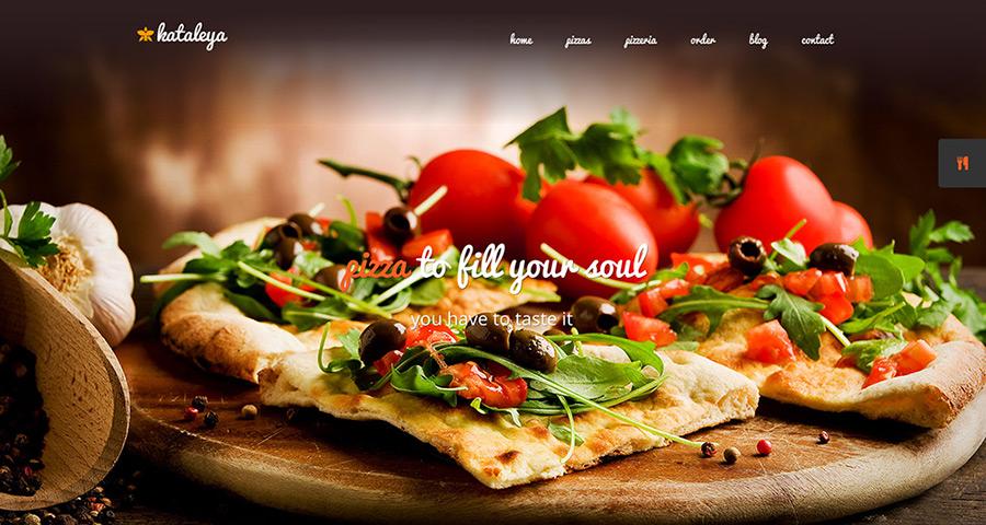Каталея Ресторан Пицца Кофе WordPress Theme