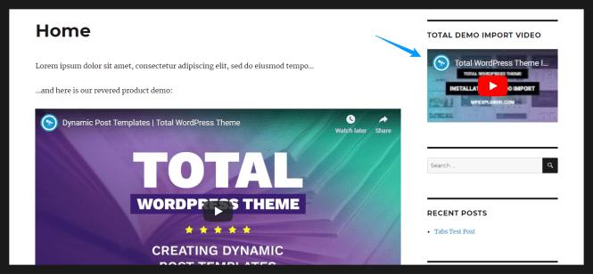 comment ajouter de la vidéo sur un site wordpress