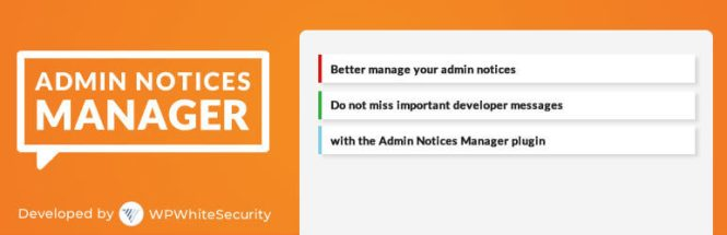 Plug-in Admin Notices Manager