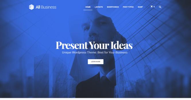 Thème WordPress de la conception de matériel de société