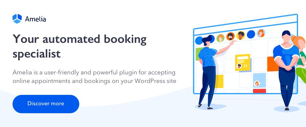 WordPress-плагин Amelia для корпоративных встреч