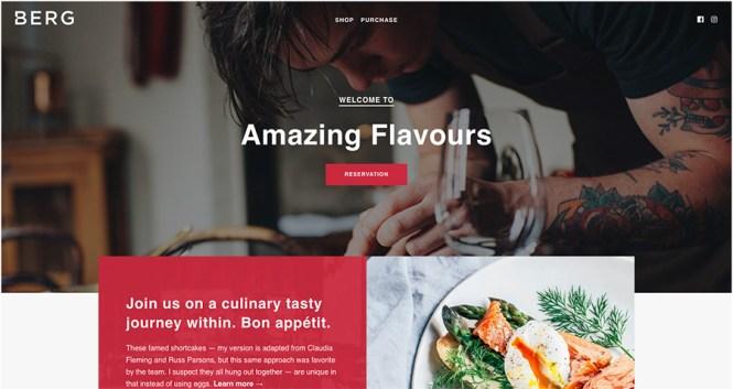 Thème WordPress pour le restaurant BERG