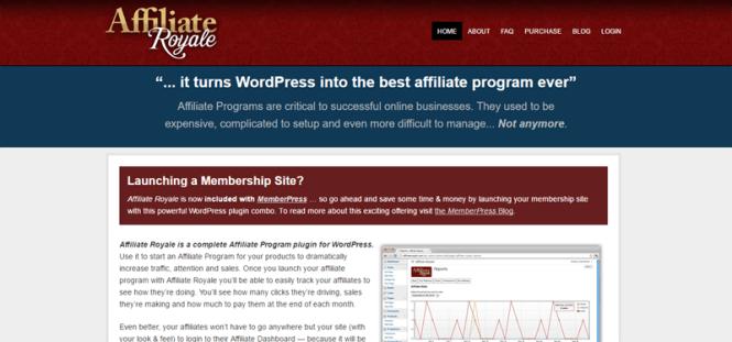 Meilleurs plugins d'affiliation WordPress: Affiliate Royale