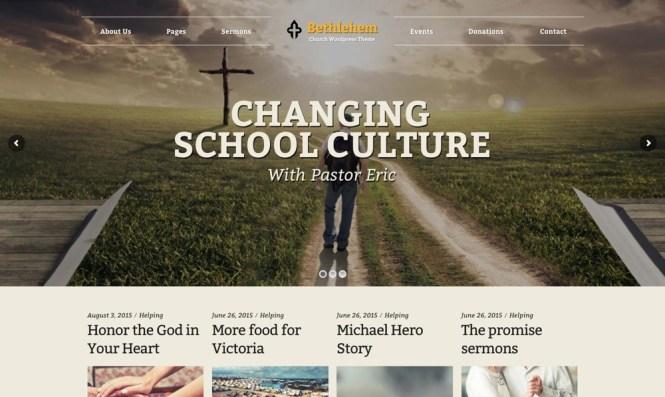Thème WordPress pour église de Bethléem