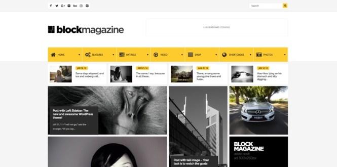 Thème WordPress du magazine Block Flat