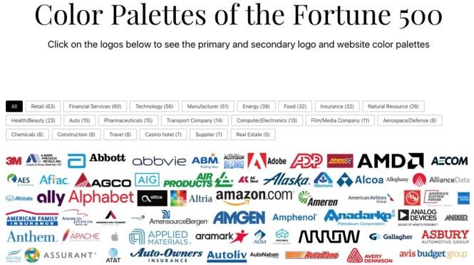 Palettes de marques par Bold Web Design