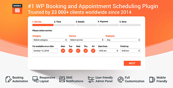 Bookly Pro Booking Plugin