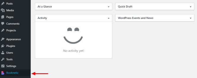 plugin de réservation booknetic élément de menu wordpress