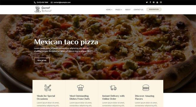 Thème WordPress Gourmet