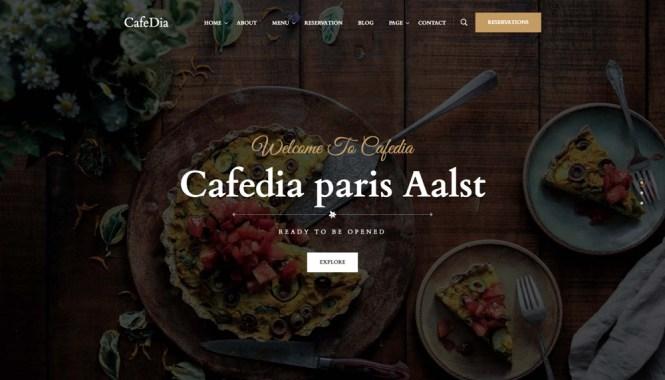 CafeDia - Thème WordPress pour restaurants