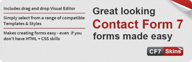 Formulaire de contact 7 Skins Add-on gratuit