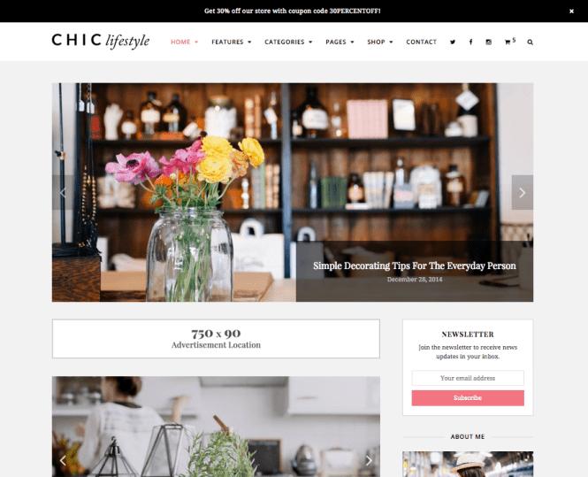 Thème WordPress Chic Lifestyle & Beauty
