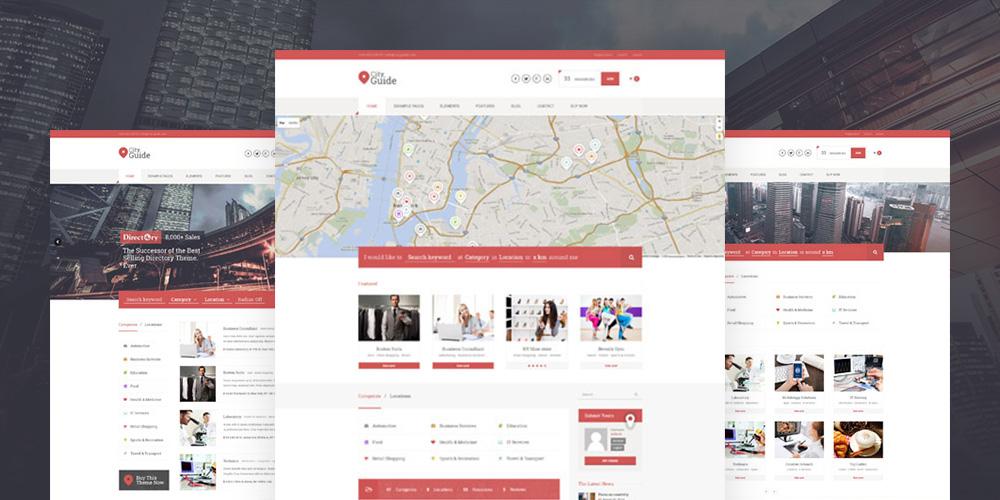 Каталог путеводителей по городу WordPress Theme