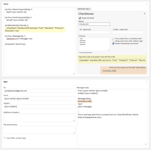 Contact Form 7 Generate Custom Tags
