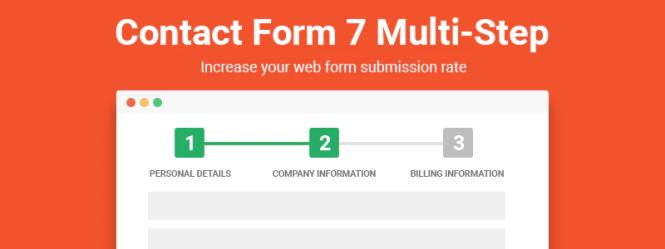 Étape multiple pour Formulaire de contact 7 Pro