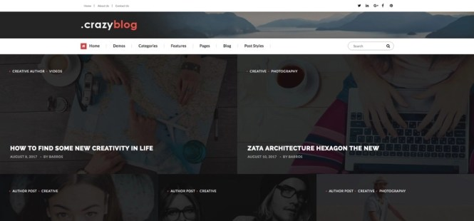 Thème WordPress du magazine Crazyblog