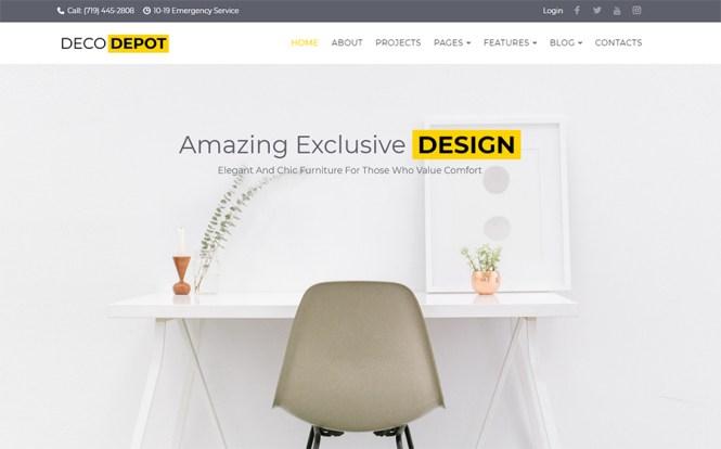 Thème WordPress DecoDepot Furniture Company