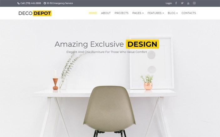 DecoDepot Furniture Company Tema WordPress
