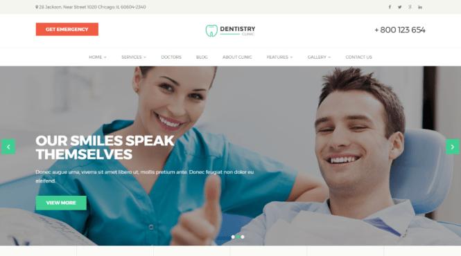 Thème WordPress pour dentisterie dentaire