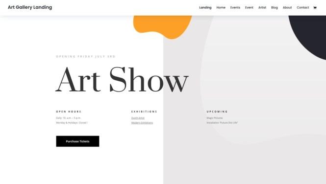 Thème WordPress Divi pour les artistes