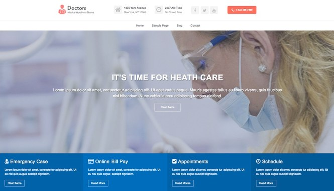 Doctors Pro - Thème WordPress médical