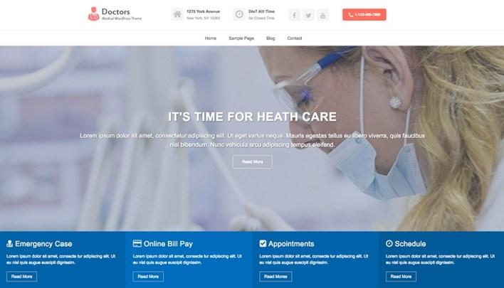 Médicos Pro - Tema Médico WordPress