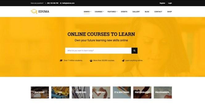 Thème WordPress EDUMA Education