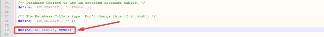 تمكين تصحيح أخطاء WP