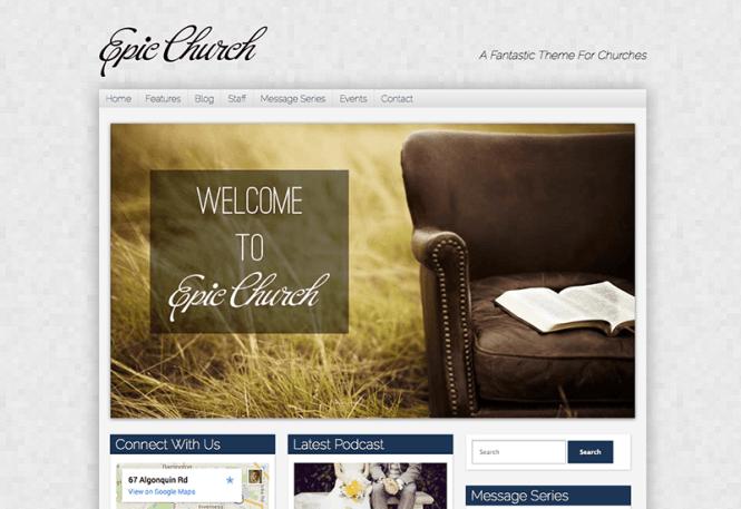 thème épique-wordpress-église