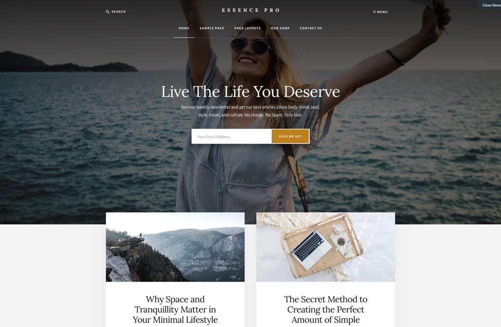 Essence Pro Blog WordPress Theme