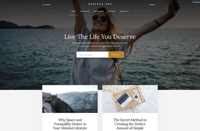 Thème WordPress Essence Pro Blog