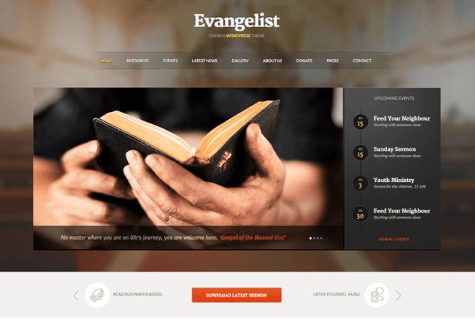 évangéliste-église-charité-wordpress-thème