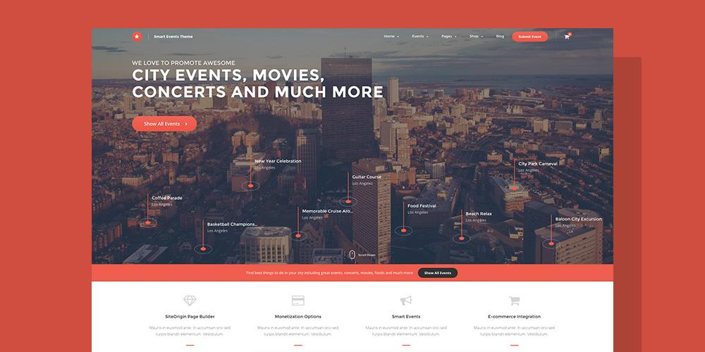 EVE Events Directory WordPress Theme