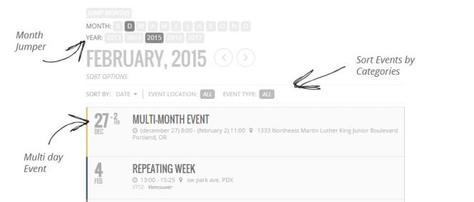 Plug-in EventOn Calendar