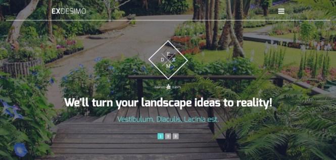 Thème WordPress de conception de jardin