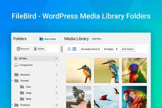 FileBird - Dossiers de la médiathèque WordPress