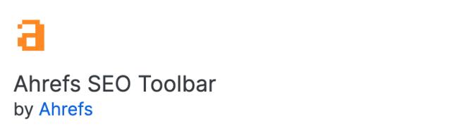 Module complémentaire Firefox - barre d'outils ahrefs