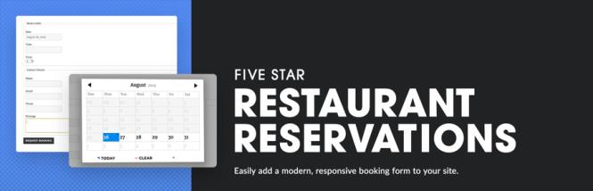 Réservations de restaurant cinq étoiles