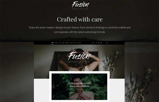 Thème de blog WordPress Fusion